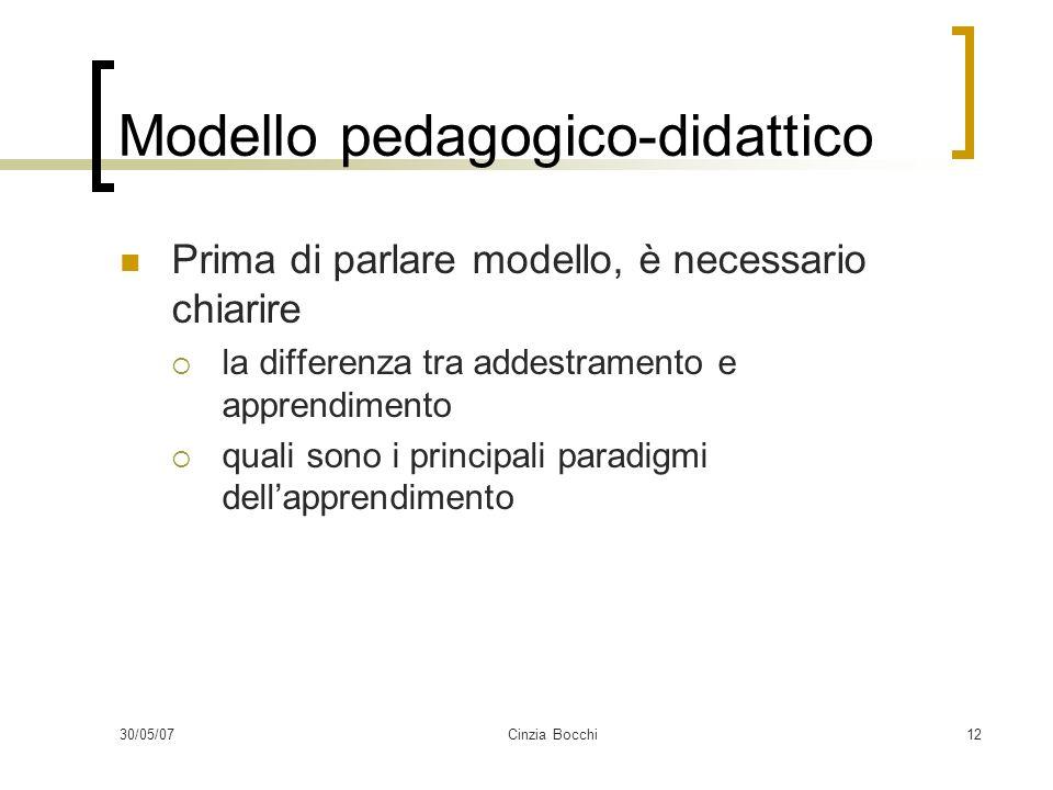 Modello pedagogico-didattico