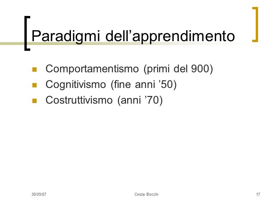 Paradigmi dell'apprendimento