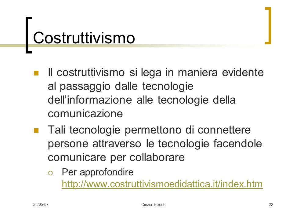 Costruttivismo Il costruttivismo si lega in maniera evidente al passaggio dalle tecnologie dell'informazione alle tecnologie della comunicazione.
