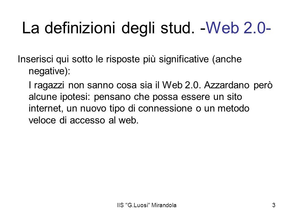 La definizioni degli stud. -Web 2.0-