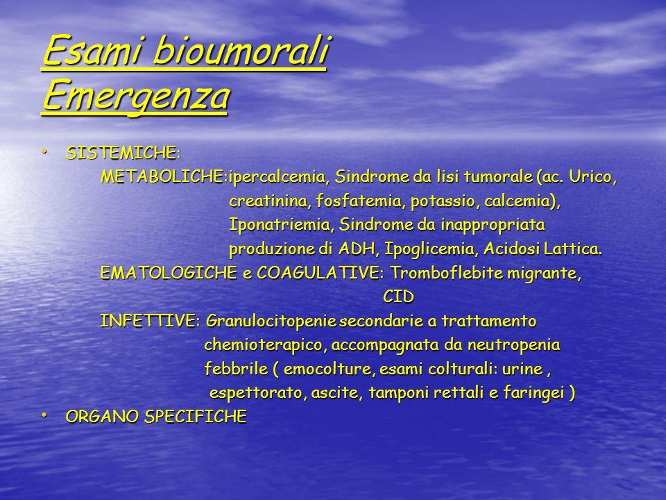 Esami bioumorali Emergenza