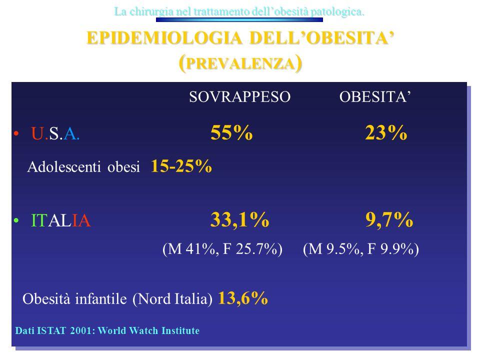 EPIDEMIOLOGIA DELL'OBESITA' (PREVALENZA)