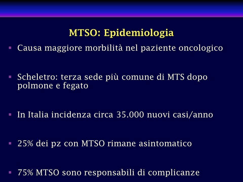 MTSO: Epidemiologia Causa maggiore morbilità nel paziente oncologico