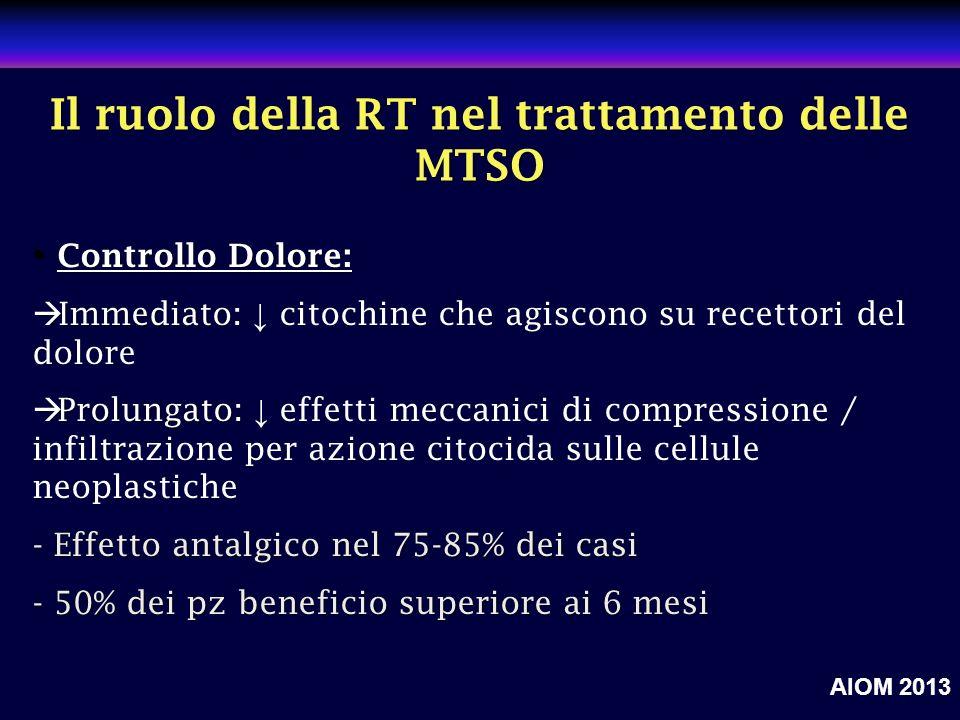 Il ruolo della RT nel trattamento delle MTSO
