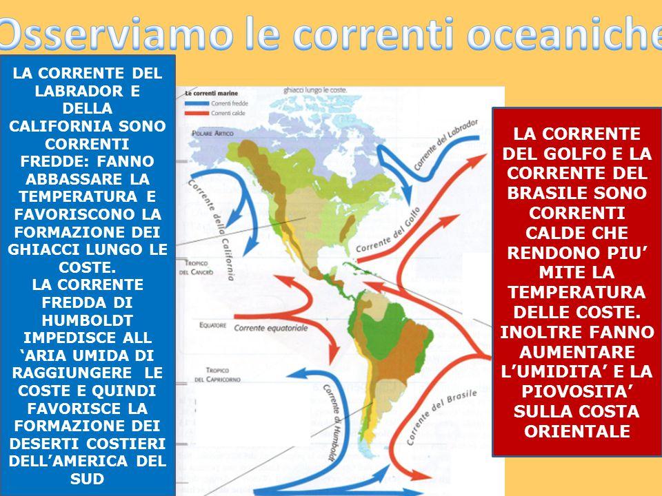 Osserviamo le correnti oceaniche