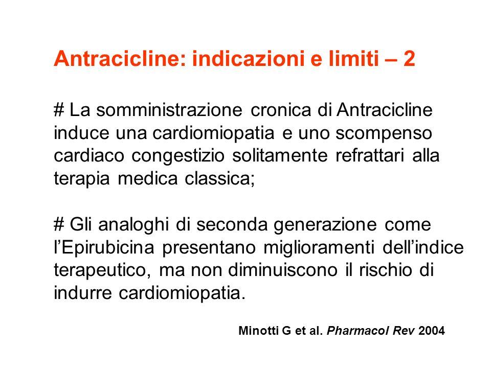 Antracicline: indicazioni e limiti – 2