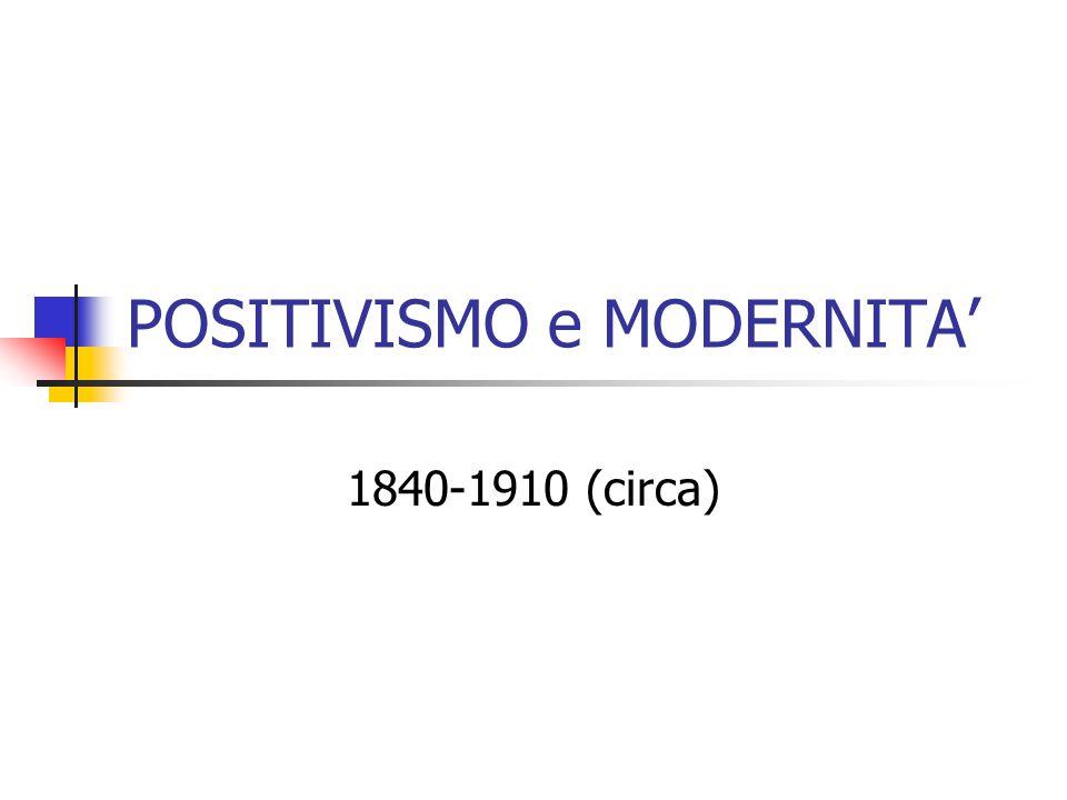 POSITIVISMO e MODERNITA'