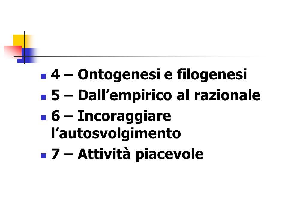 4 – Ontogenesi e filogenesi