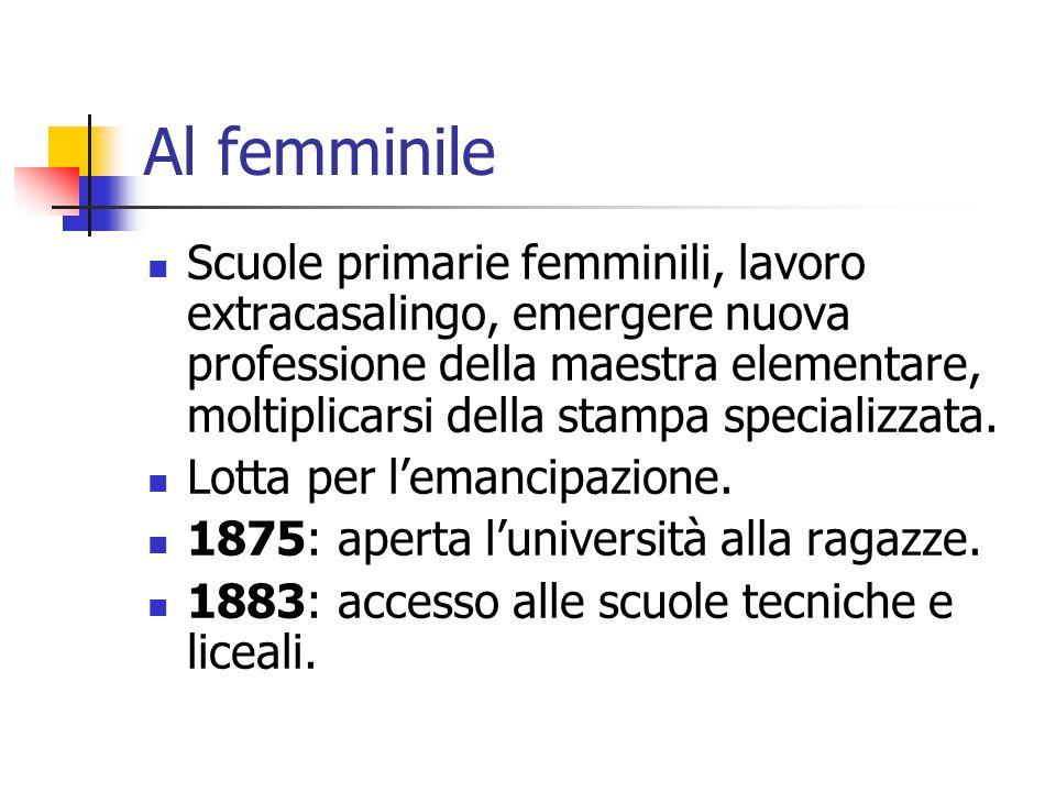 Al femminile