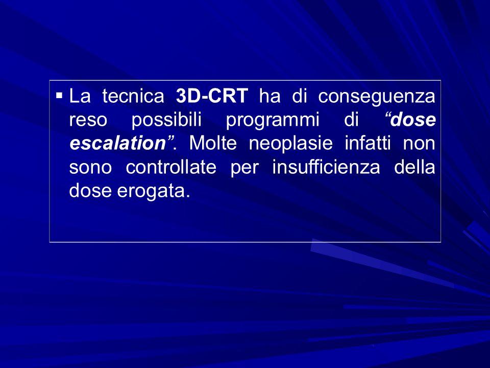 La tecnica 3D-CRT ha di conseguenza reso possibili programmi di dose escalation .