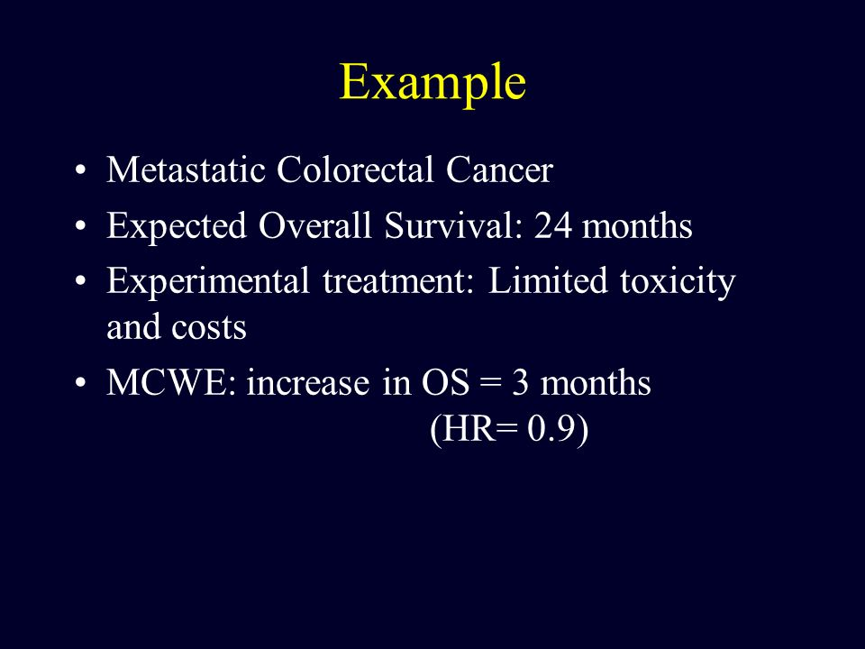 Example Metastatic Colorectal Cancer