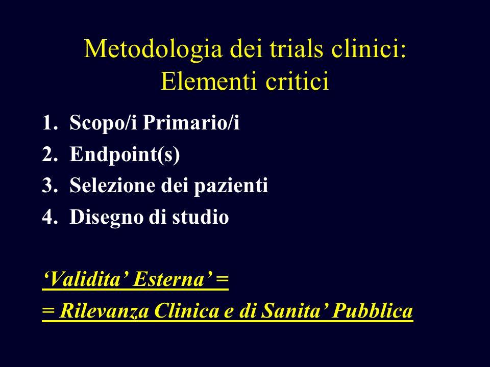 Metodologia dei trials clinici: Elementi critici