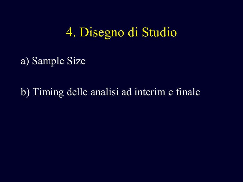4. Disegno di Studio a) Sample Size