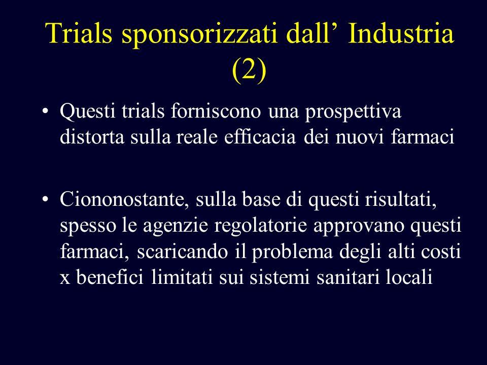 Trials sponsorizzati dall' Industria (2)