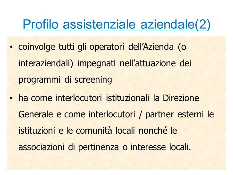 Profilo assistenziale aziendale(2)