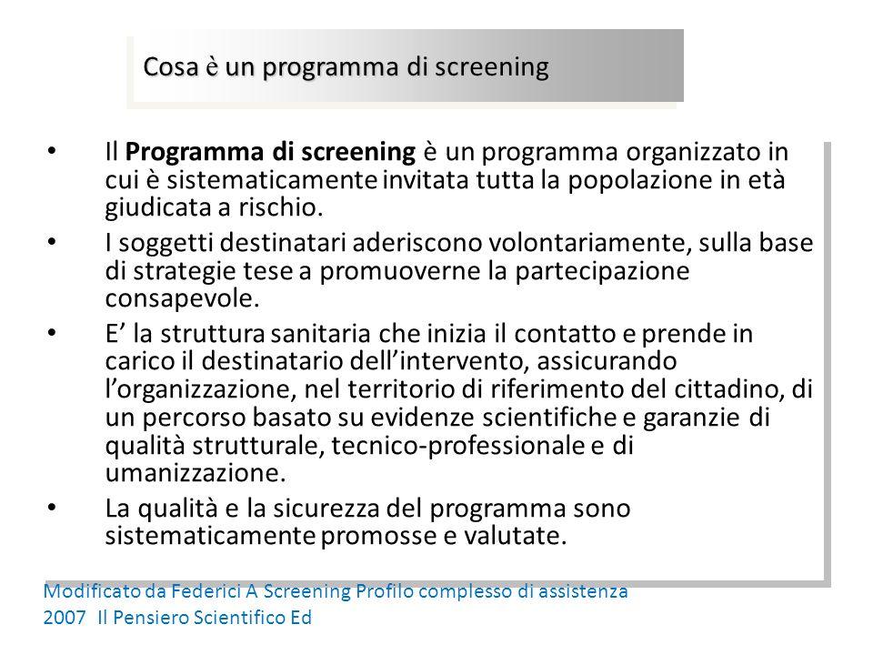 Cosa è un programma di screening