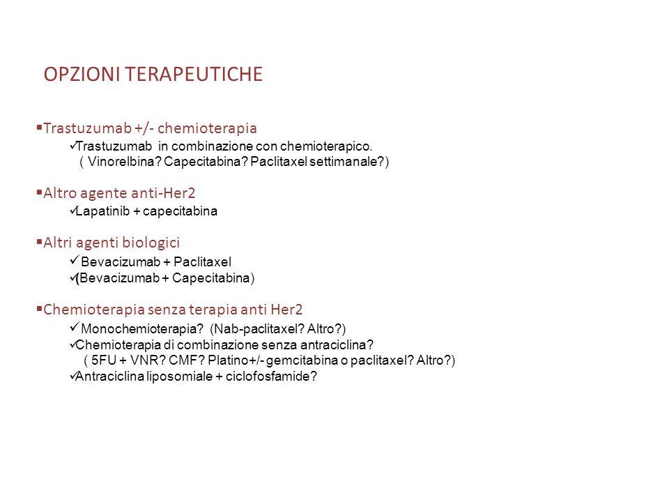 OPZIONI TERAPEUTICHE Trastuzumab +/- chemioterapia