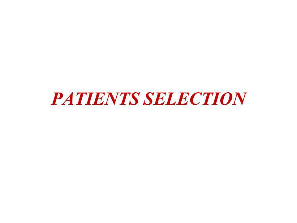 PATIENTS SELECTION