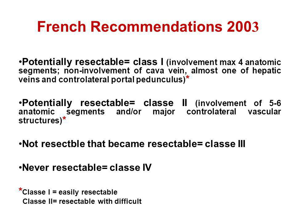 French Recommendations 2003