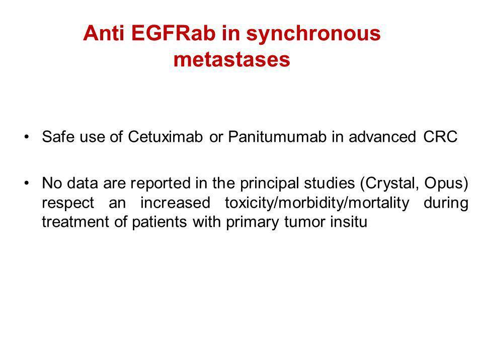 Anti EGFRab in synchronous metastases