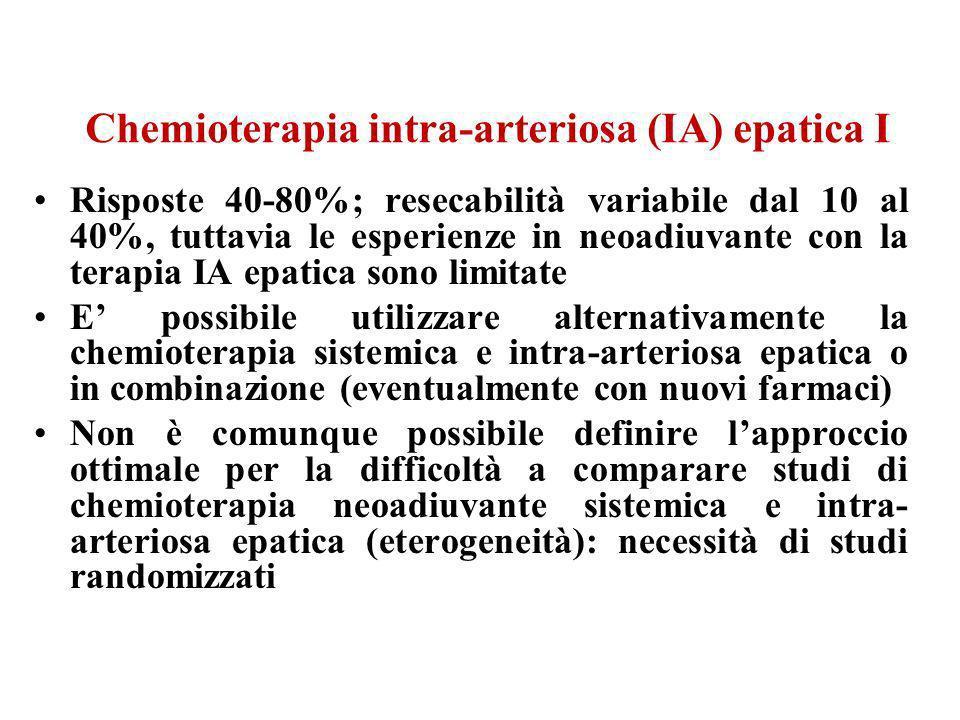 Chemioterapia intra-arteriosa (IA) epatica I