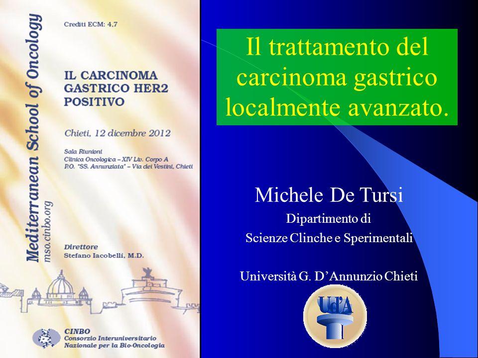 Il trattamento del carcinoma gastrico localmente avanzato.