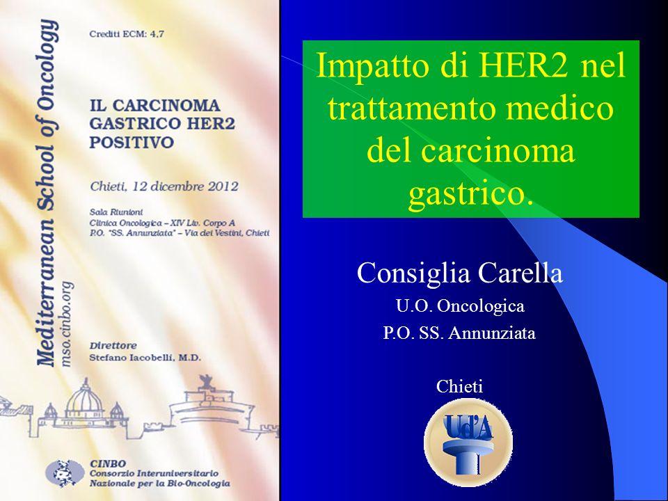 Impatto di HER2 nel trattamento medico del carcinoma gastrico.