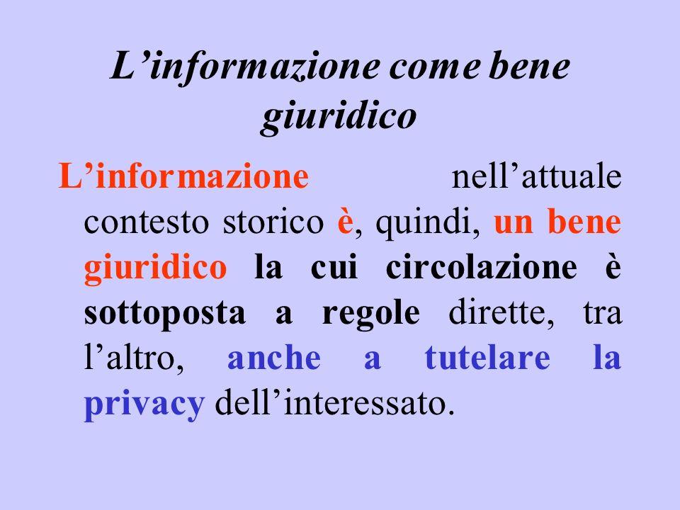 L'informazione come bene giuridico