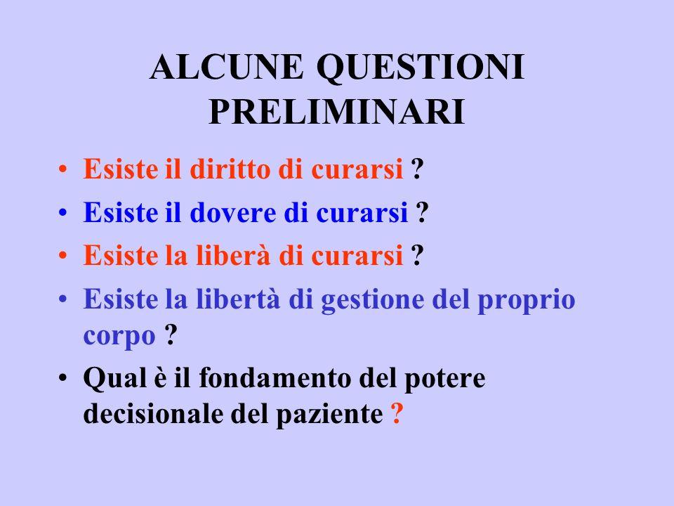 ALCUNE QUESTIONI PRELIMINARI