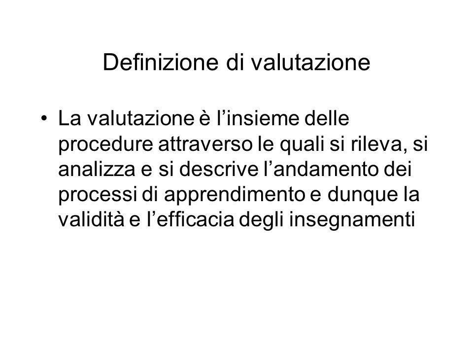Definizione di valutazione
