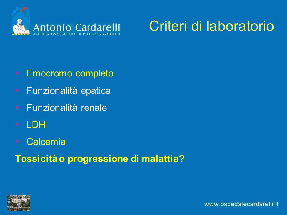 Criteri di laboratorio