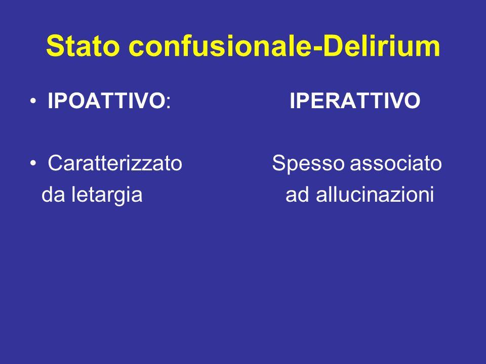 Stato confusionale-Delirium