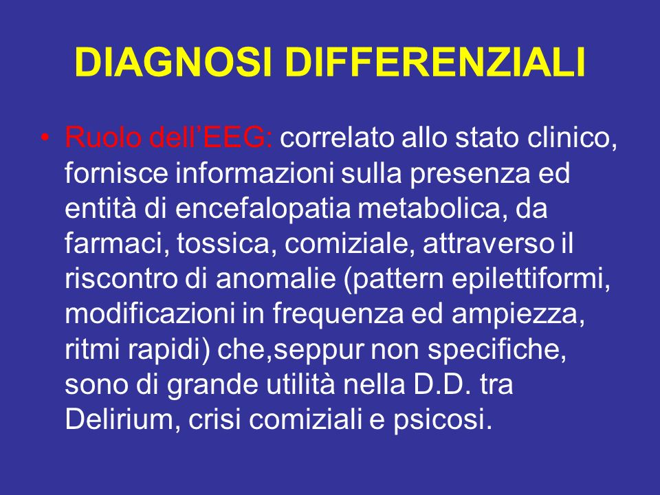 DIAGNOSI DIFFERENZIALI
