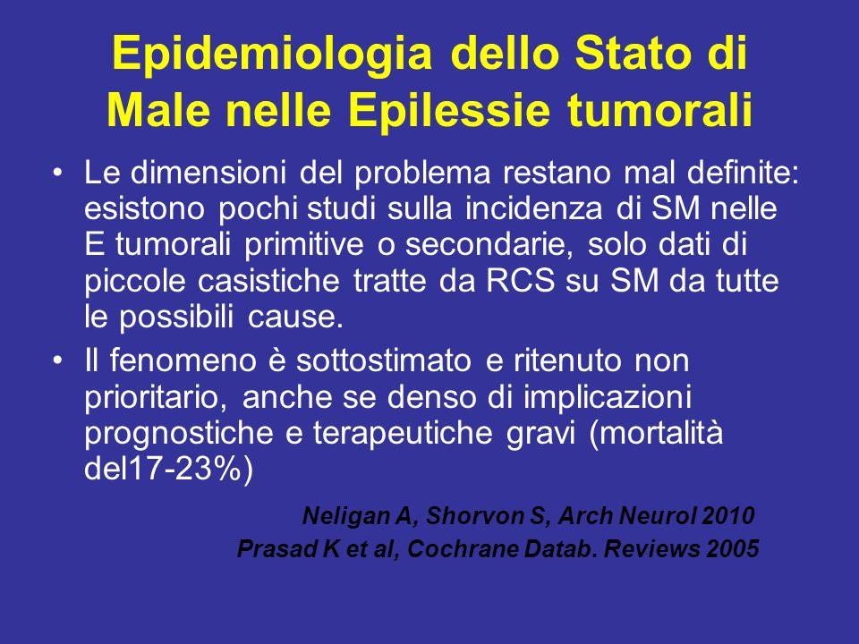 Epidemiologia dello Stato di Male nelle Epilessie tumorali