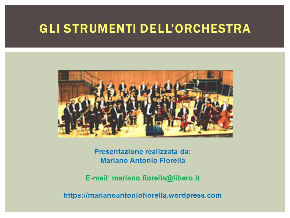 Gli strumenti dell'orchestra