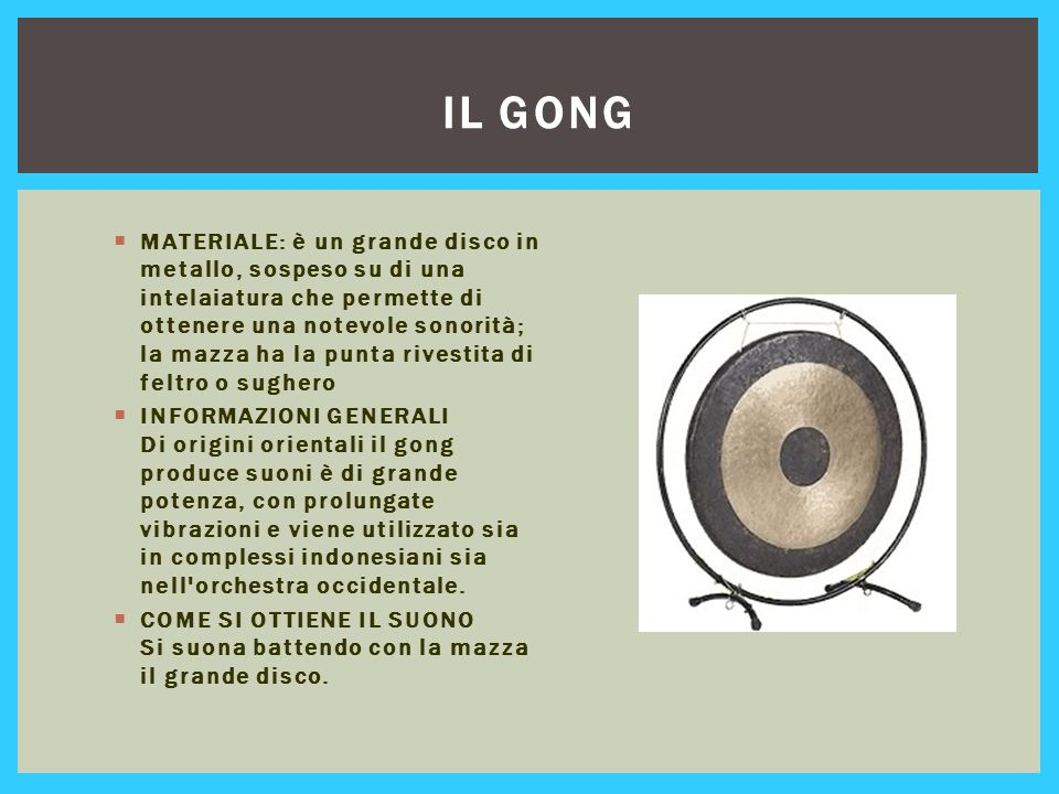 Il gong