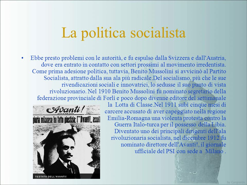 La politica socialista