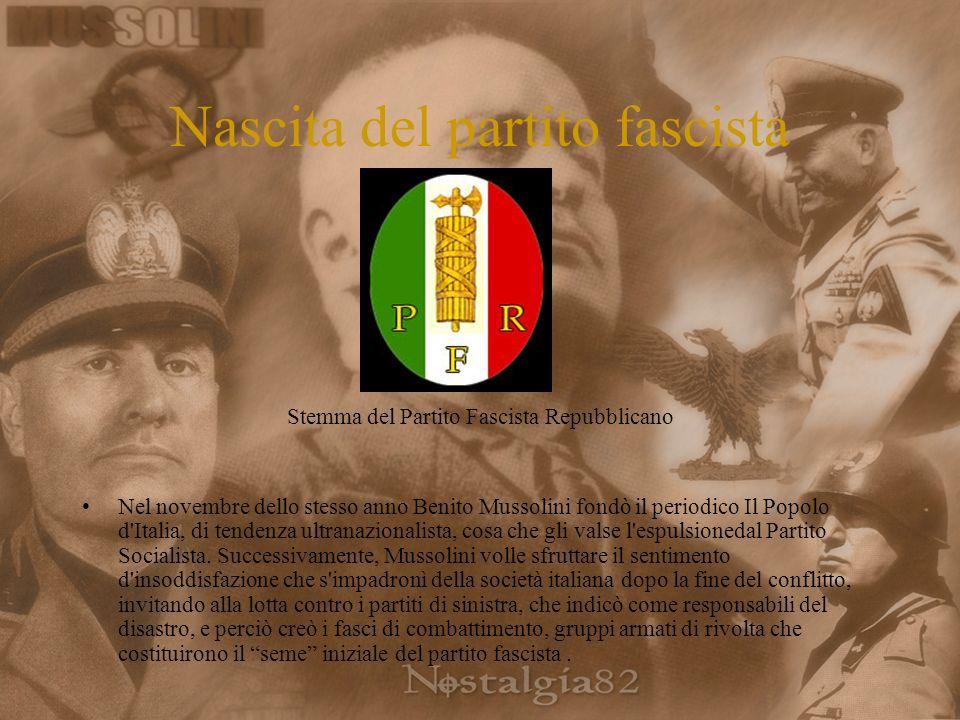 Nascita del partito fascista