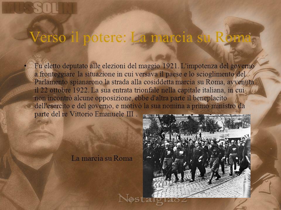 Verso il potere: La marcia su Roma