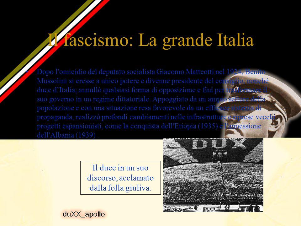 Il fascismo: La grande Italia
