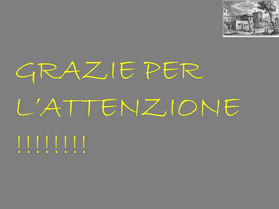GRAZIE PER L'ATTENZIONE !!!!!!!!