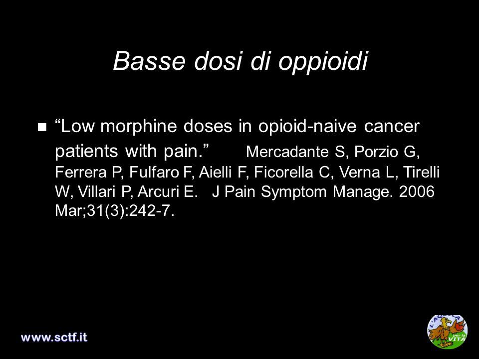 Basse dosi di oppioidi