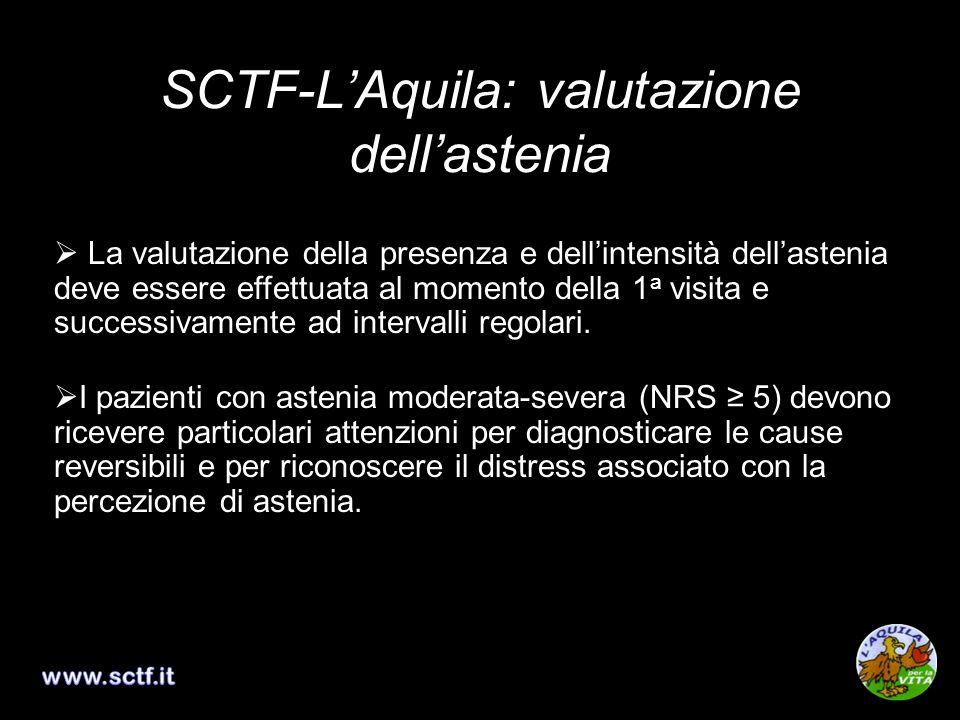 SCTF-L'Aquila: valutazione dell'astenia