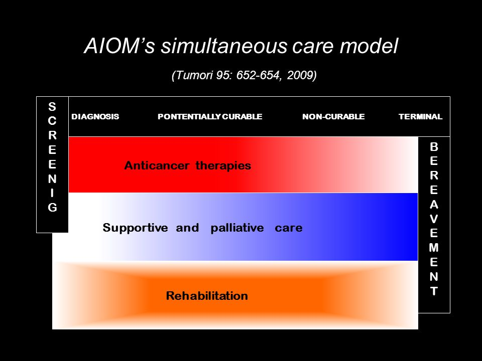 AIOM's simultaneous care model (Tumori 95: 652-654, 2009)