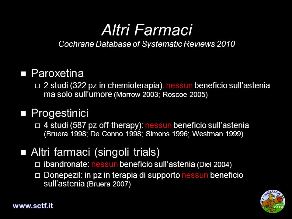Altri Farmaci Cochrane Database of Systematic Reviews 2010