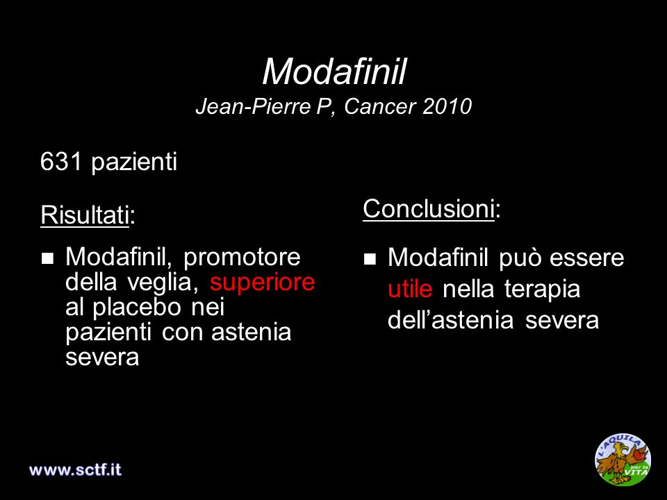 Modafinil Jean-Pierre P, Cancer 2010