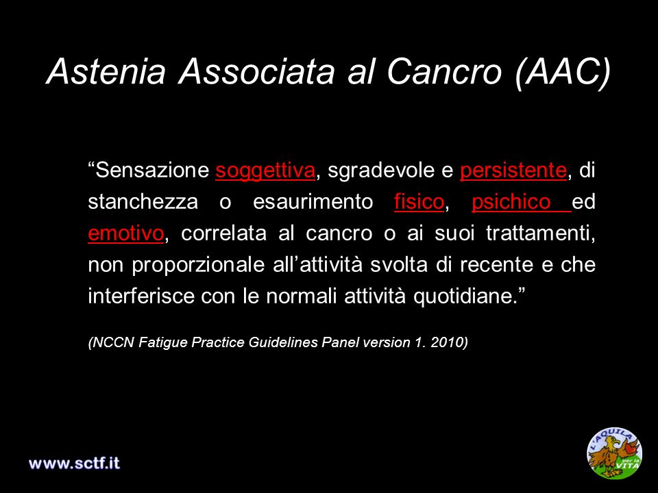 Astenia Associata al Cancro (AAC)