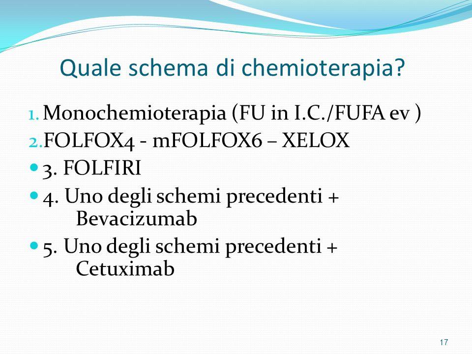Quale schema di chemioterapia