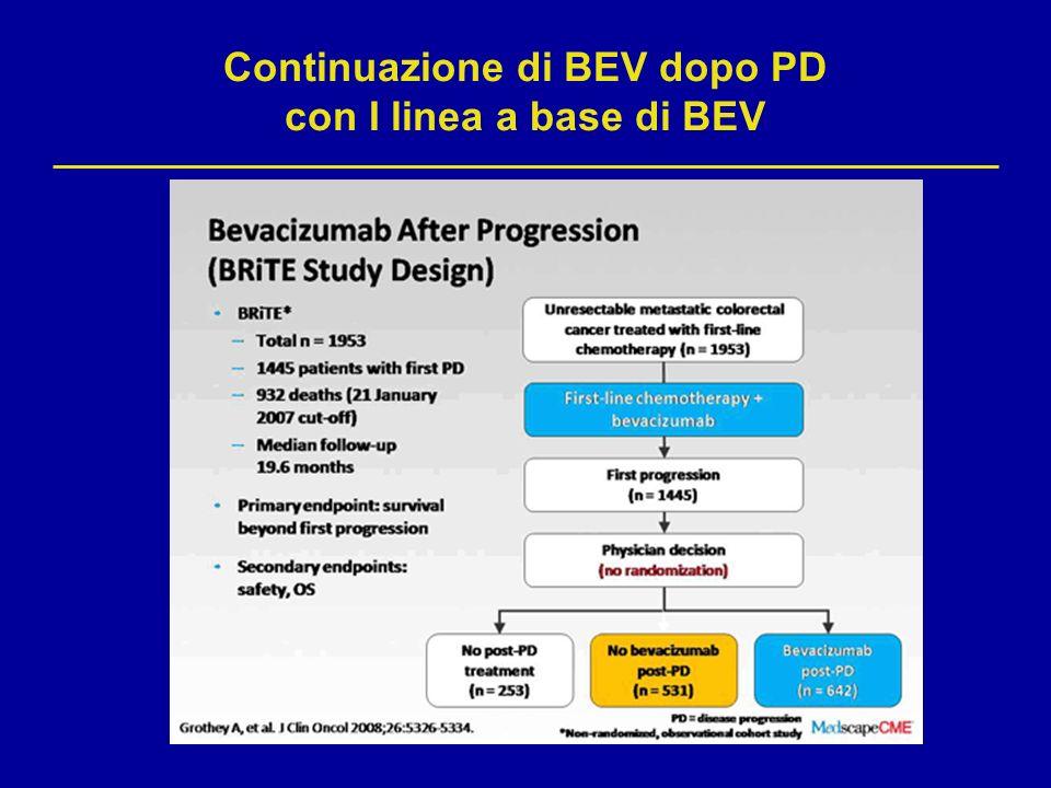 Continuazione di BEV dopo PD con I linea a base di BEV