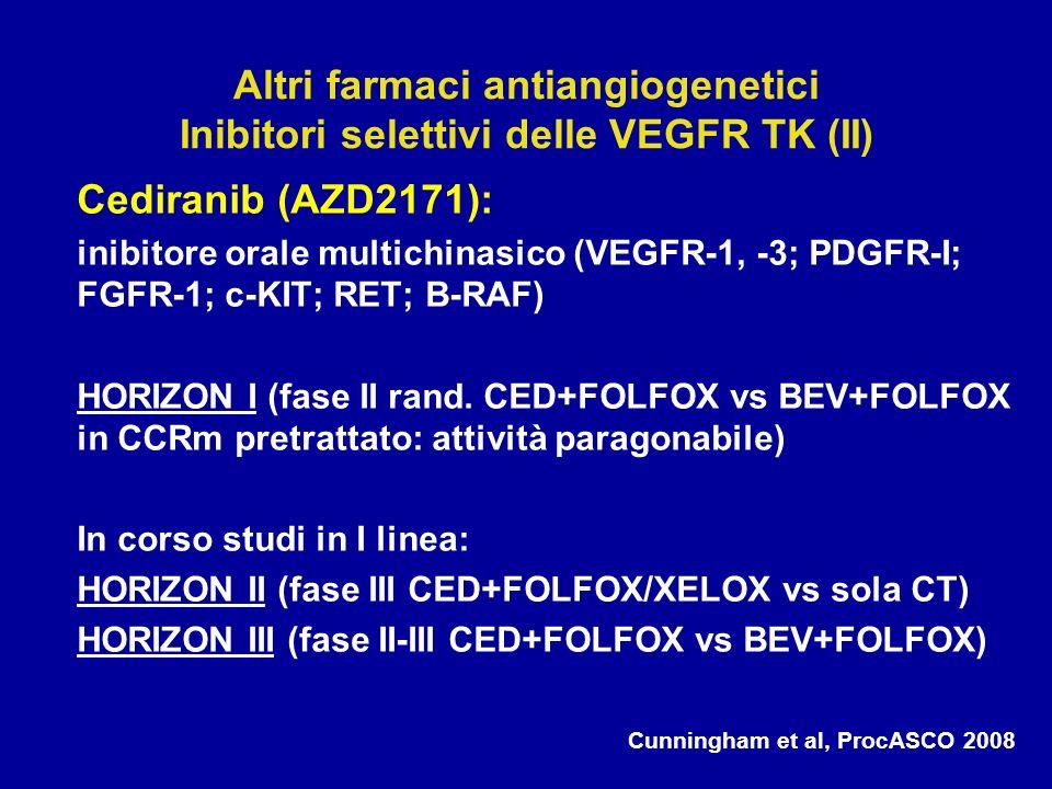 Altri farmaci antiangiogenetici Inibitori selettivi delle VEGFR TK (II)